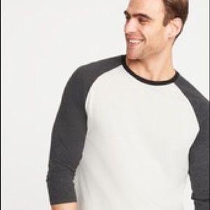 Old Navy soft washed color blocked raglan shirt